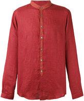 John Varvatos mandarin collar shirt - men - Linen/Flax - S