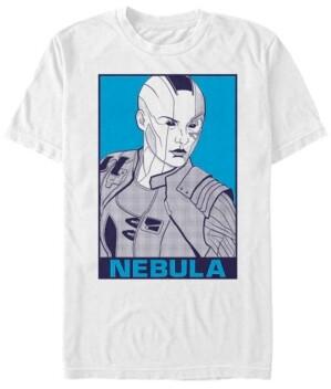 Marvel Men's Avengers Endgame Nebula Pop Art Poster, Short Sleeve T-shirt