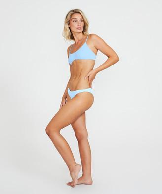Subtitled Scoop Neck Bikini Top Blue