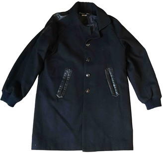 Les Prairies de Paris Navy Wool Coat for Women