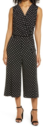 Connected Apparel Polka Dot Jumpsuit