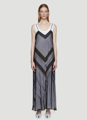 Maison Margiela Zig Zag Overlay Dress in Black