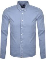 Pretty Green Edward Long Sleeved Shirt Blue