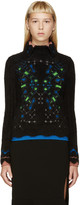 Peter Pilotto Black Angora Snowflake Sweater