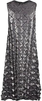 Issey Miyake Frost Sleeveless Textured Pleat Dress