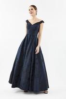 Coast V-Neck Jacquard Full Skirt Maxi Dress