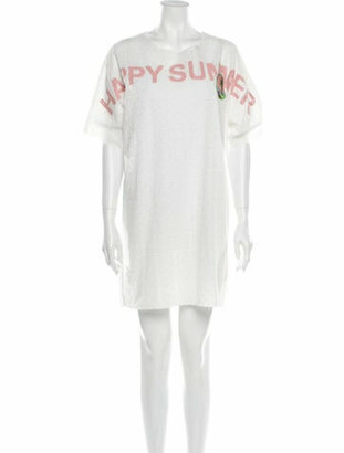 Otto Wagner Crew Neck Mini Dress w/ Tags White