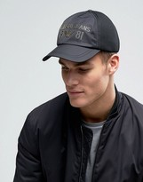 Armani Jeans 1981 Baseball Cap In Black