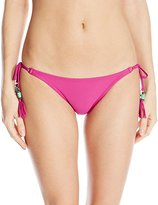 Sofia by Vix Women's Grape Long Tie Side Bikini Bottom