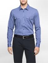 Calvin Klein Infinite Cool Slim Fit Patch Pocket Dobby Shirt