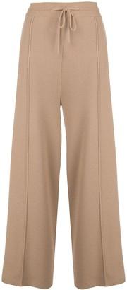 Oscar de la Renta High-Rise Wide-Leg Knitted Trousers
