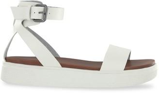Mia Ellen Ankle-Strap Faux Leather Sandals