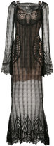 Roberto Cavalli lace long dress - women - Cotton/Polyamide - 38