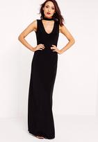 Missguided Slinky Choker Maxi Dress Black