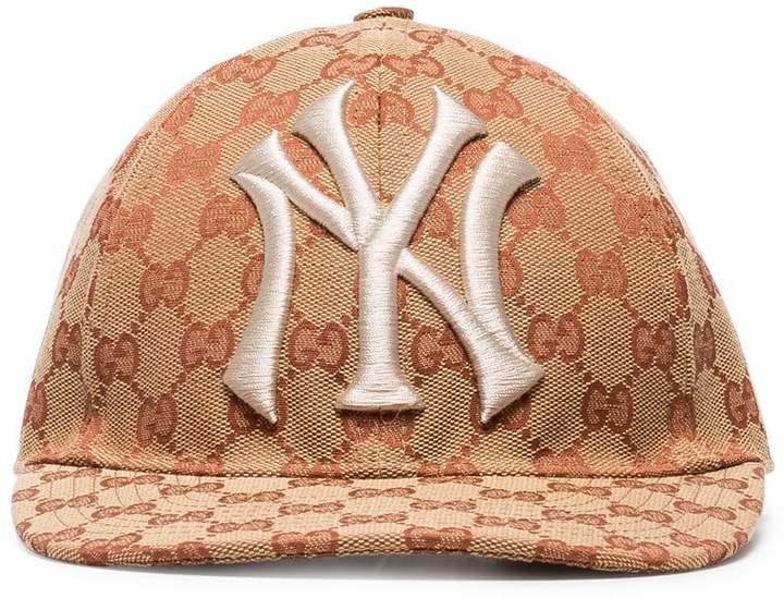 Gucci brown and white GG New York Yankees baseball cap
