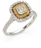 Saks Fifth Avenue 1.25 TCW Certified Diamond, 18K White & Yellow Gold Ring