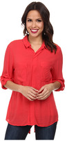 Miraclebody Jeans Christa Collared Blouse w/ Body-Shaping Inner Shell