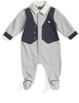 Armani Junior Infant Boy's Faux Vest Footie