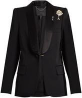 Marc Jacobs Satin-lapel embellished-brooch wool tuxedo jacket
