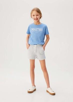 MANGO Frayed hem shorts light heather grey - 5 - Kids