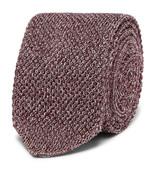 Ermenegildo Zegna - 6cm Mélange Knitted Silk Tie