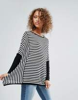 Only Tabitha Oversized Striped Long Sleeve Top
