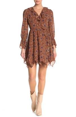Fanco Long Sleeve Printed Wrap Dress