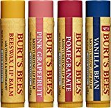Burt's Bees 100% Natural Moisturizing Lip Balm, Multipack, 4 Tubes