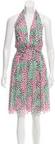 Diane von Furstenberg Printed Halter Dress
