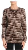Les Copains Women's Brown Silk Shirt.