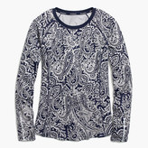 New Balance for J.Crew in-transit long-sleeve T-shirt in paisley