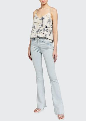 Frame Le High Flare Raw-Edge Jeans