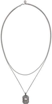 Alexander McQueen Gunmetal Brass Double Chain Necklace