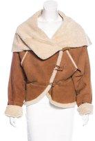 Alexander McQueen Shearling Oversize Jacket