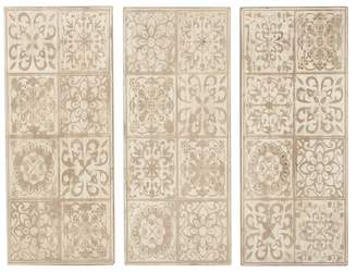 Brimfield & May Rustic Rectangular Decorative Wooden Wall Panels, 3-Piece Set