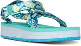 Teva Little Girls' Hi-Rise Universal Athletic Flip Flop Velcro® Sandals from Finish Line