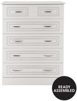 Consort Furniture Limited Dorchester Ready Assembled 4 + 2 Chest Of Drawers