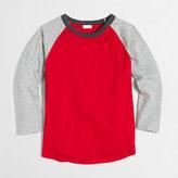 J.Crew Factory Boys' long-sleeve colorblock baseball T-shirt