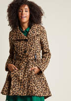 Steve Madden Winterberry Tart Coat in Wild in 1X - Fit & Flare Coat by from ModCloth