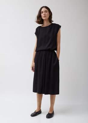 La Garçonne Moderne Cupro Twill Formal Midi Skirt