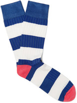 Corgi - Striped Cotton-blend Socks