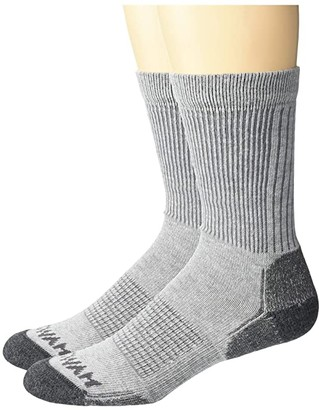 Wigwam Wool Workmate Lightweight 2-Pack (Grey) Crew Cut Socks Shoes