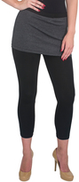 Magid Dark Gray & Black Skirted Leggings - Plus Too