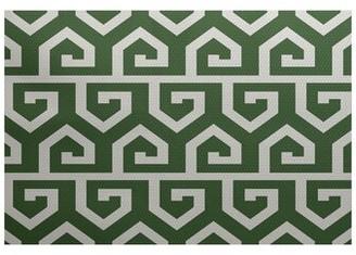 Bronx MontagueGeometric Print Green Indoor/Outdoor Area Rug Ivy Rug Size: Rectangle 2' x 3'