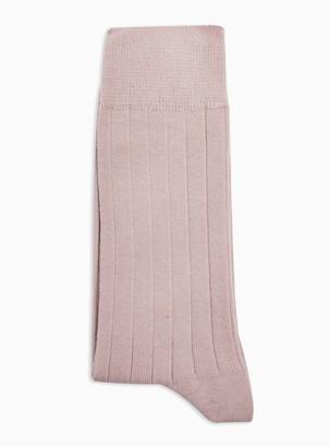 Topman Pink Ribbed Socks