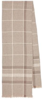 Loro Piana East River checked cashmere scarf