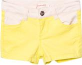 Billieblush Neon Yellow and Pink Denim Shorts