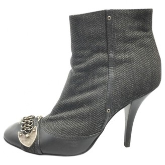 Christian Dior Grey Cloth Ankle boots