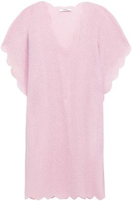 Marysia Swim Shelter Island Scalloped Crocheted Cotton Tunic