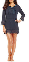 Jantzen Crochet-Trim Tunic Cover-Up